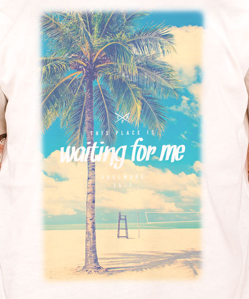 "T-Shirt ""Waiting For Me"", Men, Natural"